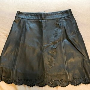 Les Petites Real Leather Skirt Size 38 (US 6)